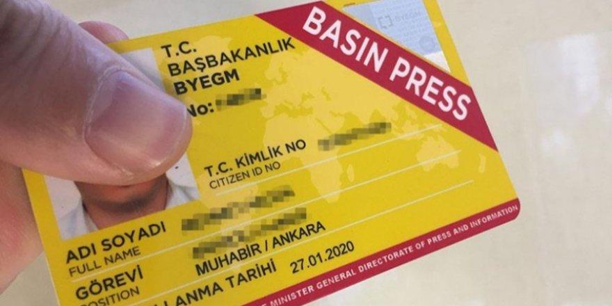 Türkiye'de Üç Yılda 2 Bin 397 Gazetecinin Basın Kartı İptal Edildi