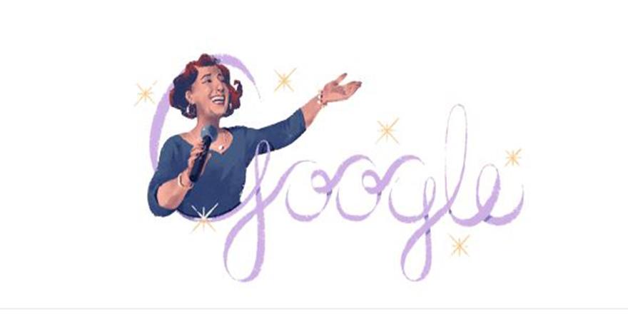 Google'dan Müzeyyen Senar için Doodle