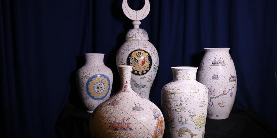 Ustasından Çini Sanatına 'Elmas' Dokunuşlar