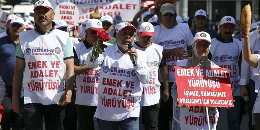 Hak-iş Ve Hizmet-iş Genel Başkanı Arslan: Yürüyüşümüz Mücadelemizin Bir Parçası, Sonu Değil