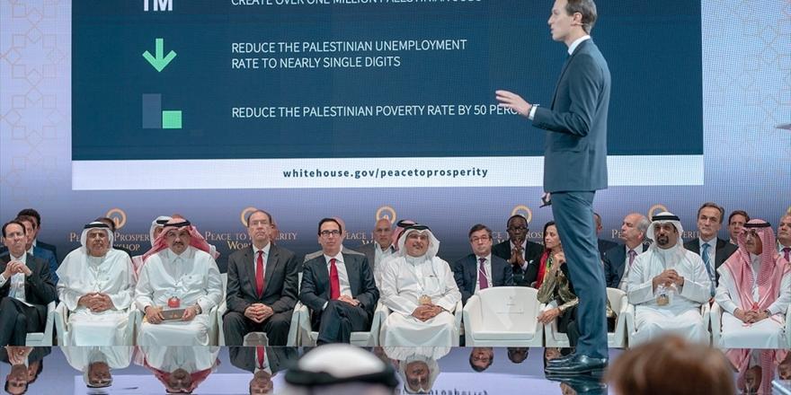 Kushner Bahreyn Çalıştayında Sınırları Olmayan Haritalar Üzerinden Sunum Yaptı