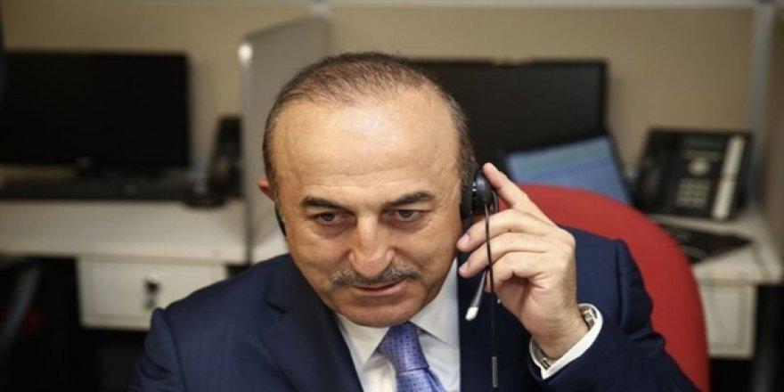 Çavuşoğlu, IKBY Başbakanı Barzani İle Telefonda Görüştü