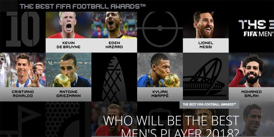 FIFA, yılın futbolcusu adaylarını açıkladı