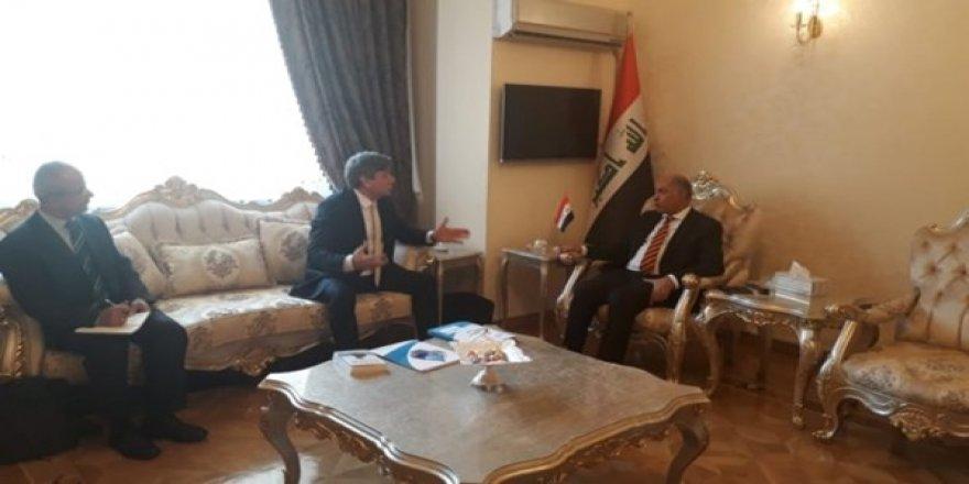 SPD Heyeti, Irak'ın Önceki Su Kaynakları Bakanı ve Halen Ankara Büyükelçisi Olan Dr. Hassan Al-Janabi İle Görüştü