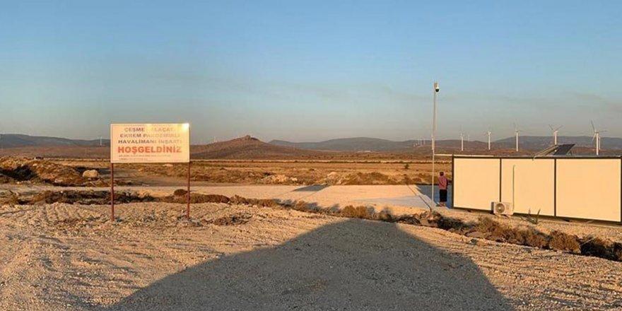 Yolcu Garantisi Verilerek İhalesi Yapılan Çeşme-Alaçatı Havalimanı'ndan Geriye Hoş Geldiniz Tabelası Kaldı