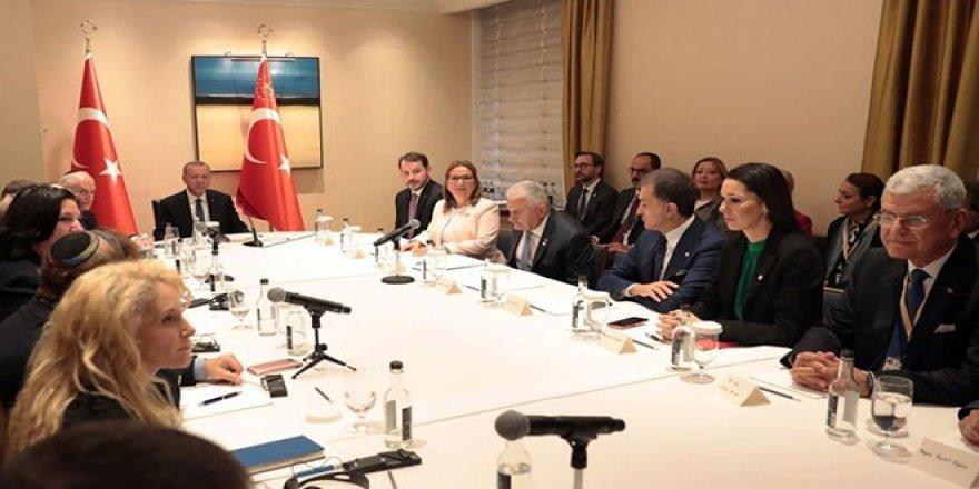 Cumhurbaşkanı Erdoğan, ABD'de Yahudi Kuruluş Temsilcileriyle Buluştu