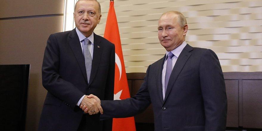 Türkiye Cumhurbaşkanı Erdoğan İle Rusya Devlet Başkanı Putin'in Görüşmesi Başladı