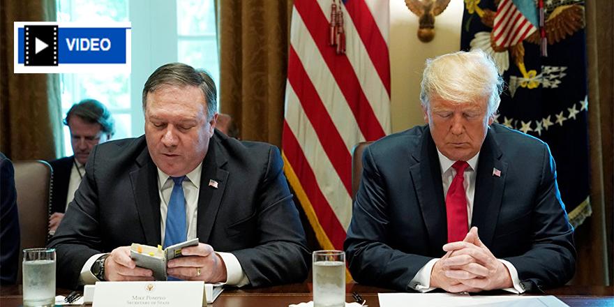 Trump'ın başkanlığındaki kabine toplantısı, Pompeo'nun ettiği dua ile başladı