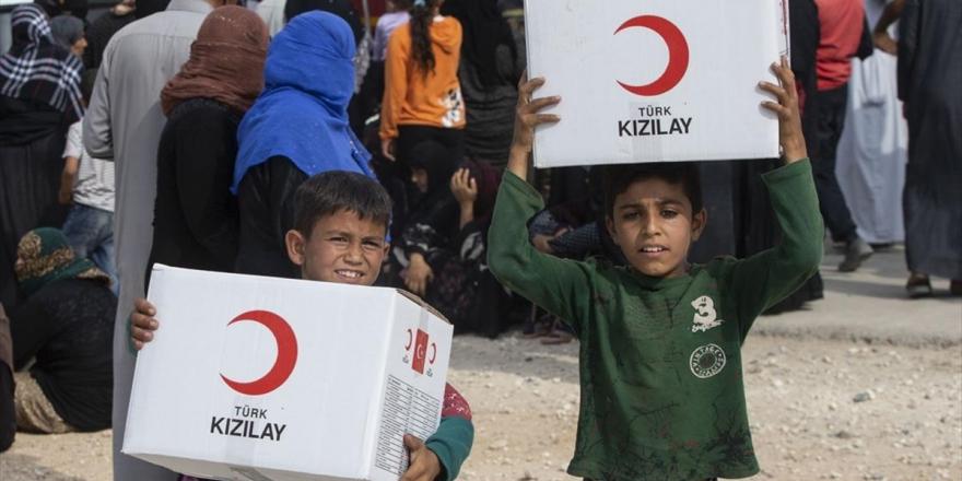 Türk Kızılayı, Barış Pınarı Harekat Bölgesindeki İnsanların Yardımına Koştu