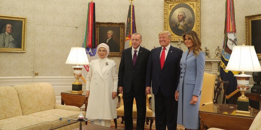Cumhurbaşkanı Erdoğan ile Trump arasındaki ikili görüşme sona erdi