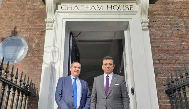 Ekrem İmamoğlu, Koç'un kurumsal ortak olduğu 'Chatham House'a gitti