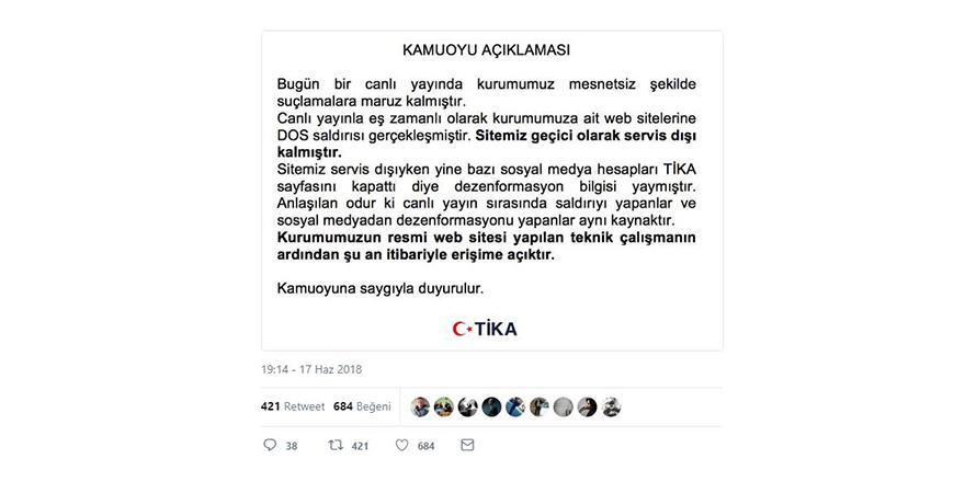 TİKA'dan Akşener'in iddialarına yanıt