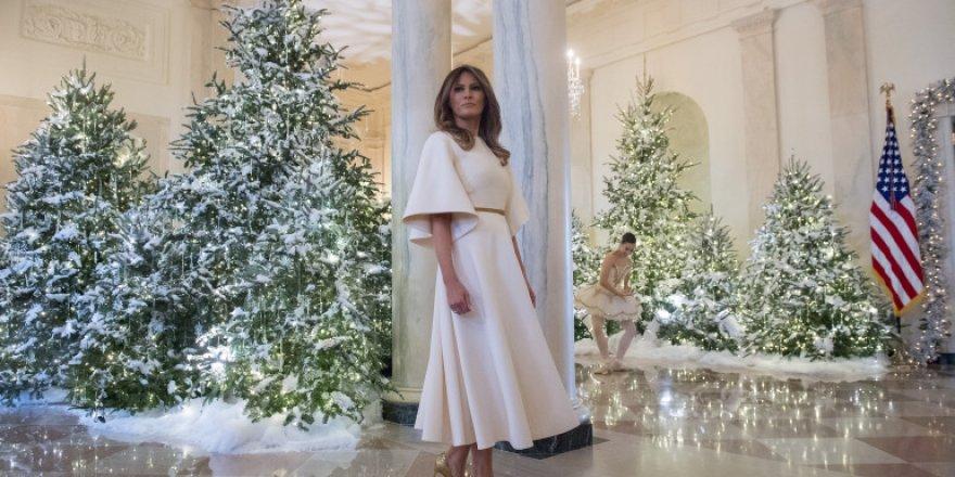 Melania Trump, Beyaz Saray'ı yılbaşına hazırladı