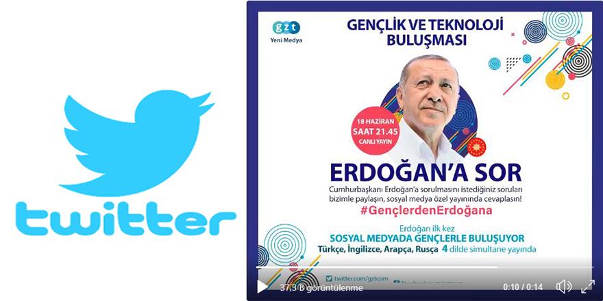 Cumhurbaşkanı Erdoğan, Twitter'dan soruları yanıtlayacak