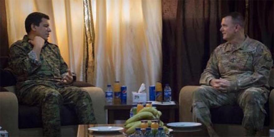 ABD'li general, kırmızı listede aranan YPG'li ile görüştü