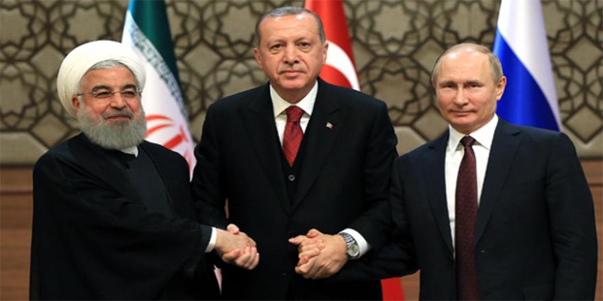 Cumhurbaşkanı Erdoğan, Putin ve Ruhani ile görüştü