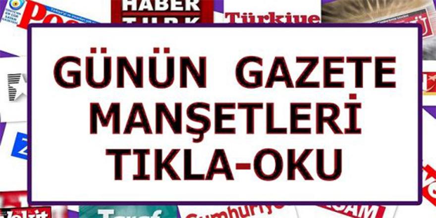 Gazetelerin birinci sayfası
