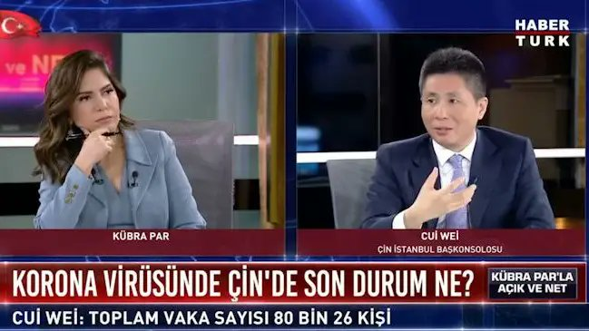 Çin'in İstanbul Başkonsolosu'ndan Habertürk spikerine uyarı