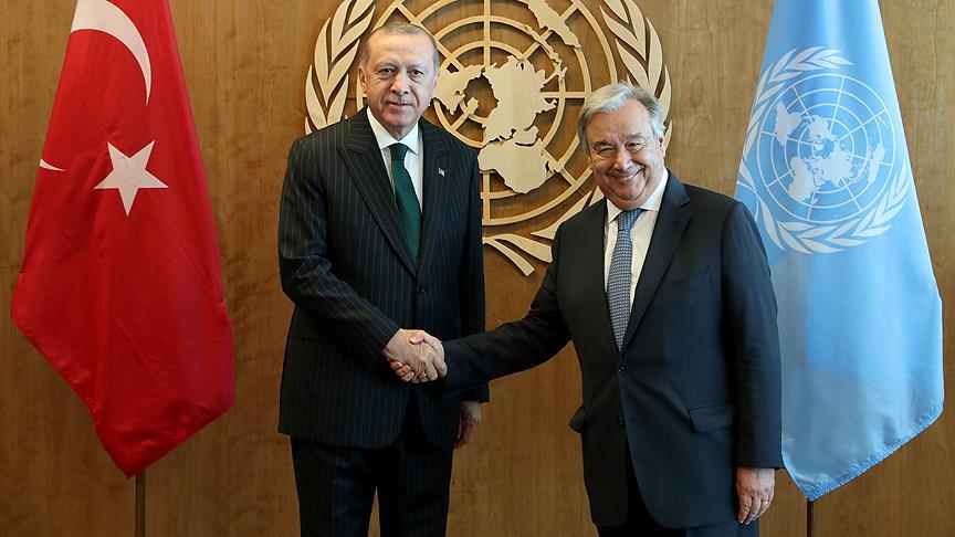 Erdoğan, BM Genel Sekreteri Guterres İle Buluştu