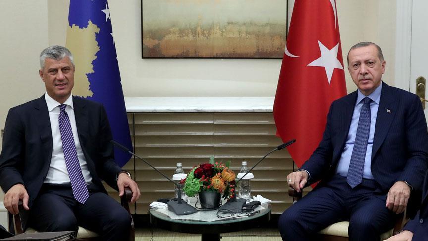 Erdoğan ve Kosova Cumhurbaşkanı Thaçi Biraraya Geldi
