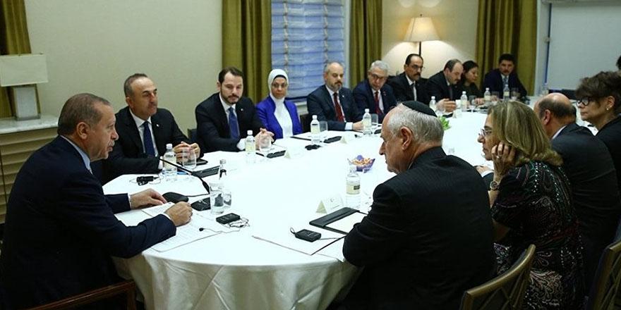 Erdoğan, New York'ta Yahudi kuruluşlarının temsilcileriyle görüştü