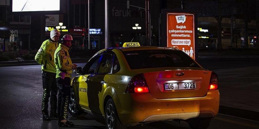 Başkentte Plaka Sınırlama Uygulamasını İhlal Eden Taksiciye Ceza Kesildi