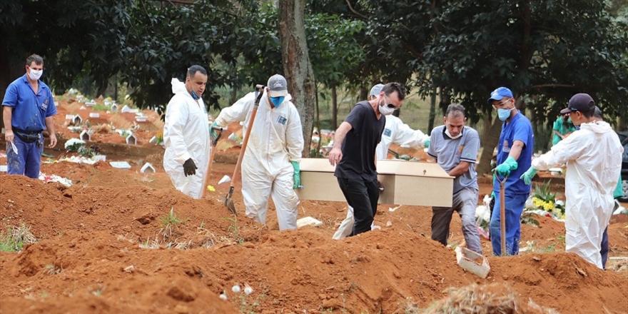 Brezilya'da Kovid-19'dan Son 24 Saatte 956 Kişi Yaşamını Yitirdi