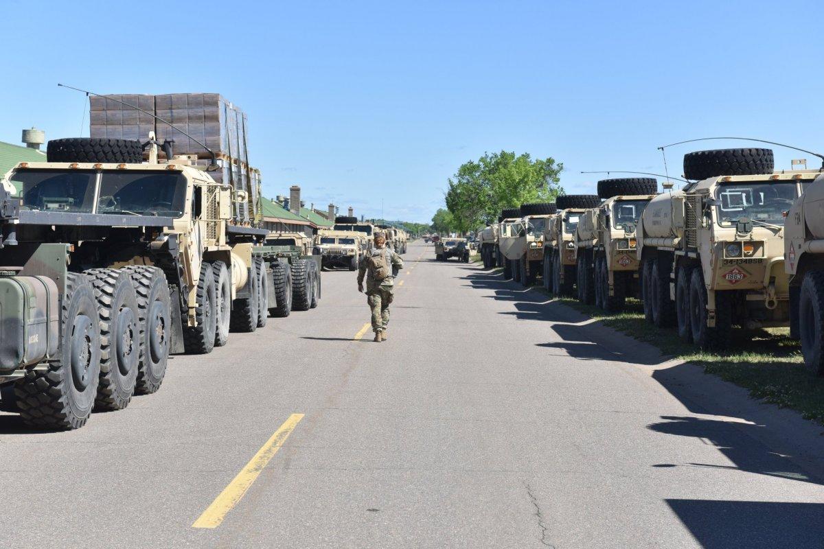 Amerikan ordusu sokaklarda