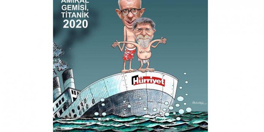 Hürriyet'in son halini duayen ismi çizdi! Amiral gemisi su aldı, batıyor!