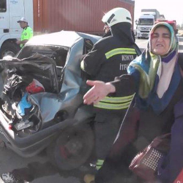 Konya'da yavru köpek kazaya neden oldu