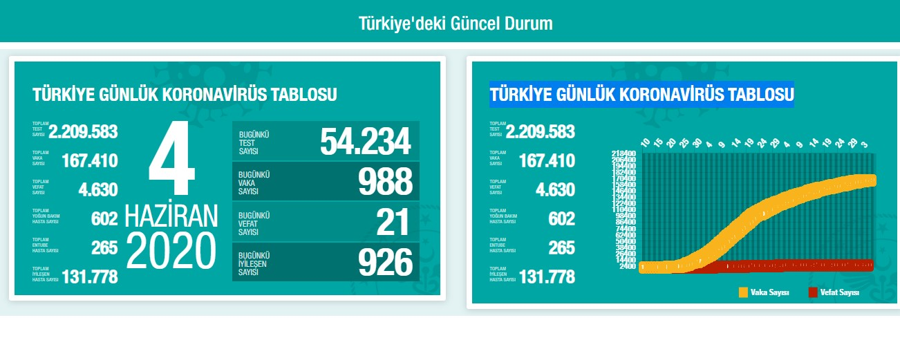 Türkiye'de Kovid-19'dan İyileşen Hasta Sayısı 131 Bin 778'e Yükseldi