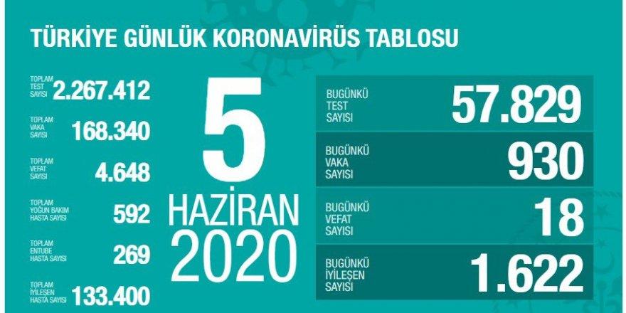 Türkiye'de koronavirüs nedeniyle 18 kişi daha hayatını kaybetti: Bugünkü vaka sayısı 930