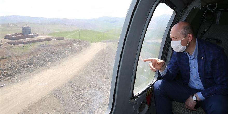 İçişleri Bakanı Soylu Türkiye-iran Sınır Duvarını İnceledi