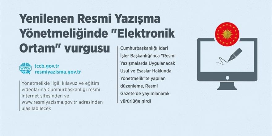 Yenilenen Resmi Yazışma Yönetmeliğinde 'Elektronik Ortam' Vurgusu