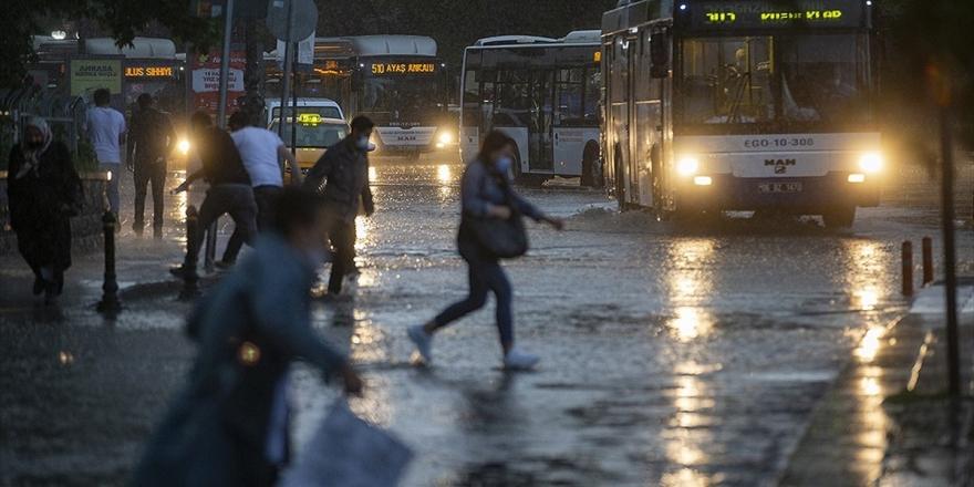 Meteorolojiden Ankara İçin Sağanak Ve Dolu Uyarısı