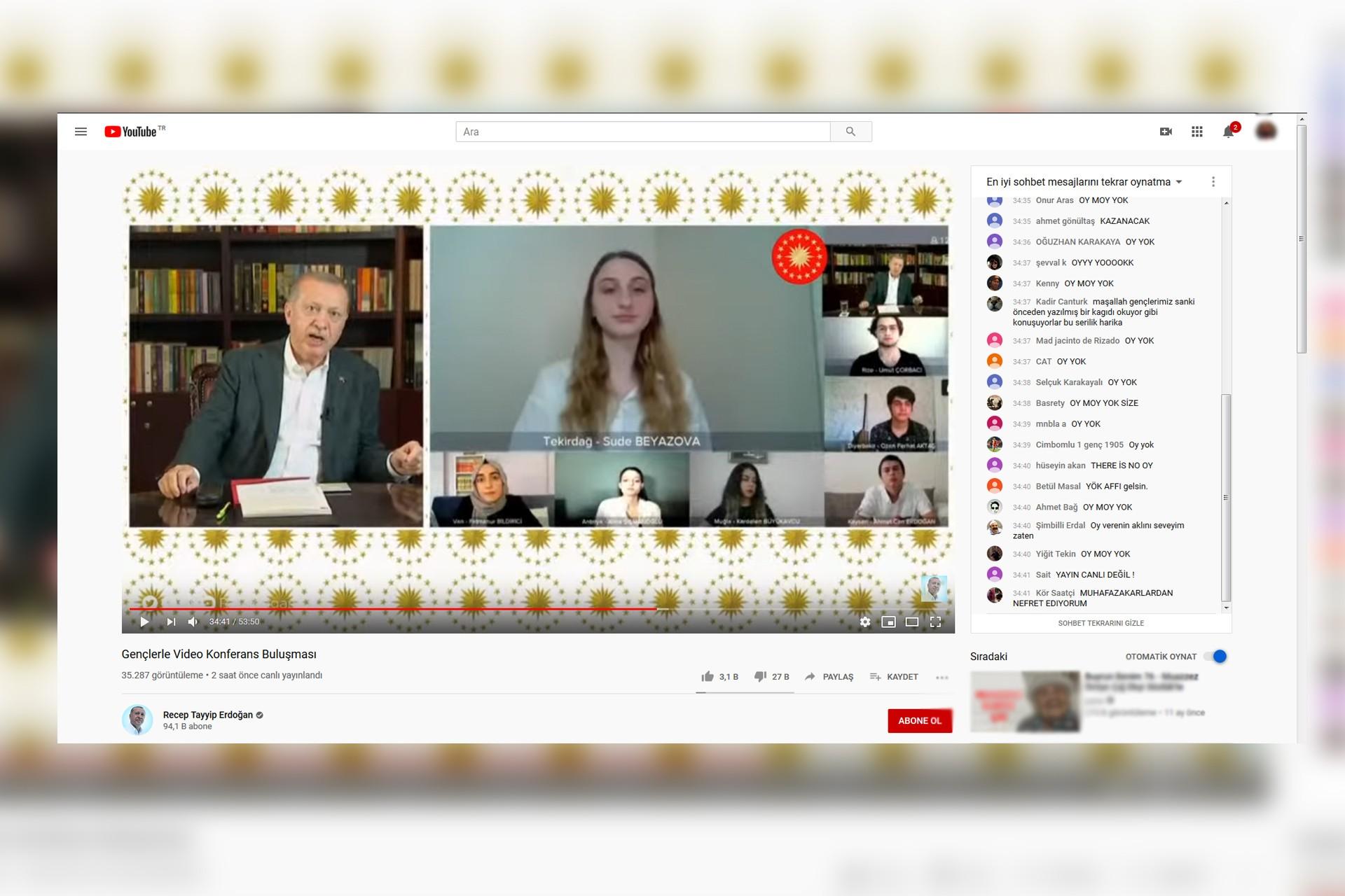 Z Kuşağı #OyMoyYok Hareketi Başlattı: Erdoğan'ın Videosu 'Dislike' Bombardımanına Tutuluyor