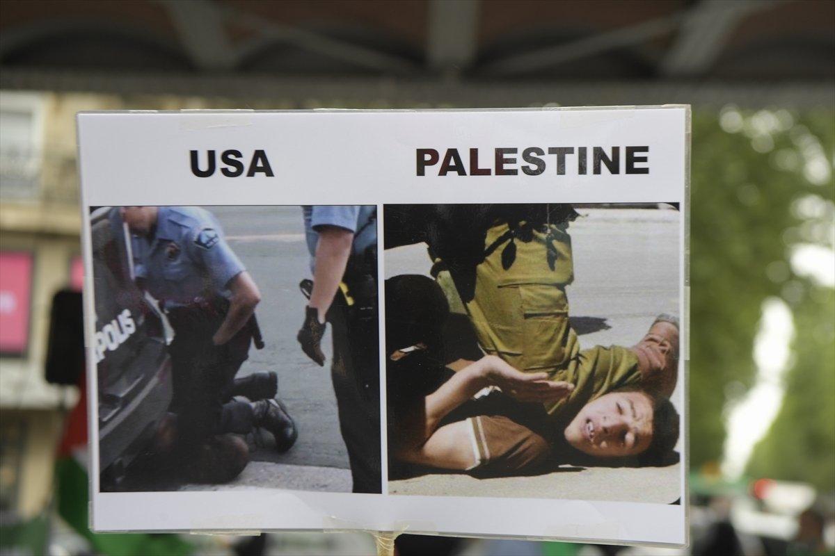 Fransa'da İsrail'e karşı ilhak protestosu