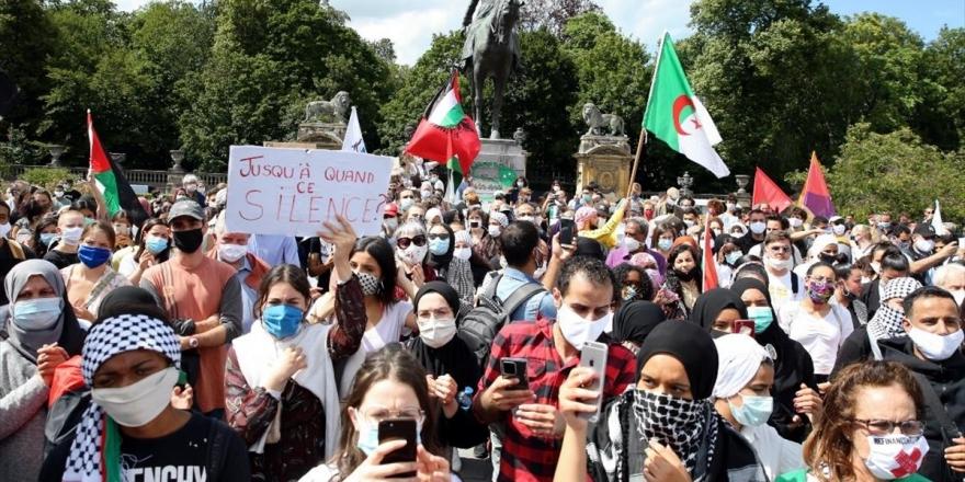 İsrail'in 'İlhak' Planı Belçika'da Protesto Edildi