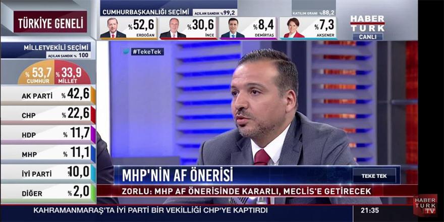 """MHP """"Af önerisini"""" Meclis'e getiriyor"""