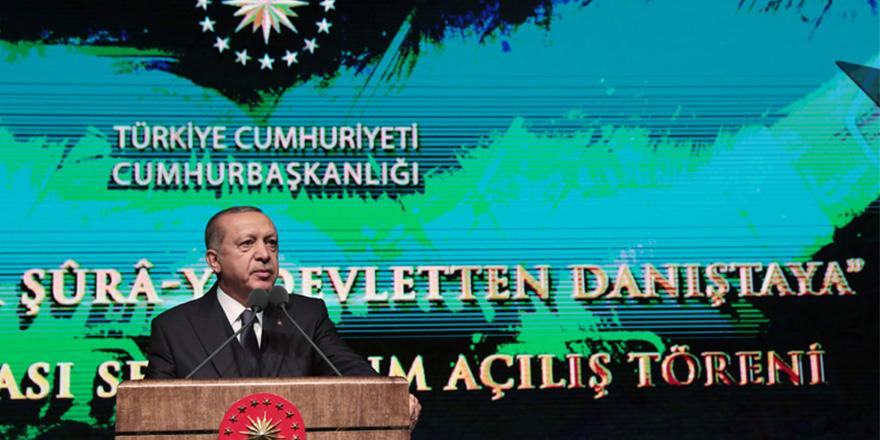 Erdoğan'dan Danıştay'a andımız eleştirisi