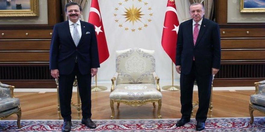 TOBB Başkanı Hisarcıklıoğlu, Cumhurbaşkanı Erdoğan'la görüştü