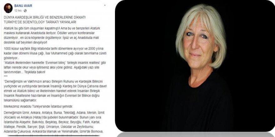 BANU AVAR FACEBOOK SAYFASINDAN UYARDI