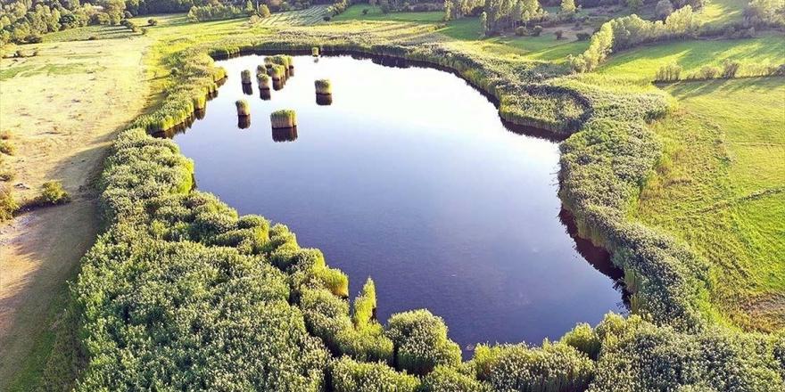 Doğa Harikası Üçkaya Gölü Her Mevsim Ayrı Güzel