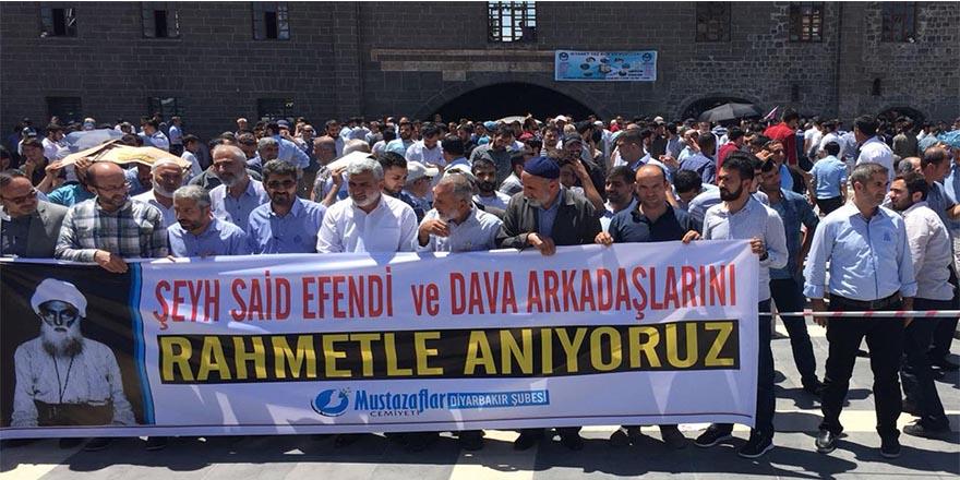 Diyarbakır'da Şeyh Said ve arkadaşları için gösteri