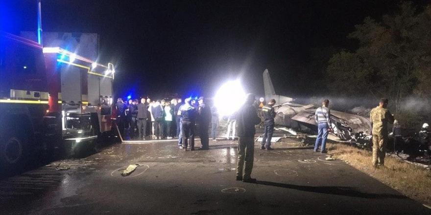 Ukrayna'nın Harkov Bölgesinde Askeri Uçak Düştü