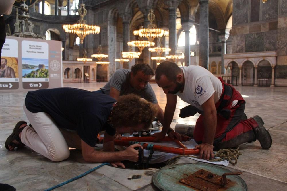 Ayasofya'da yer altı yapıları keşfedildi...