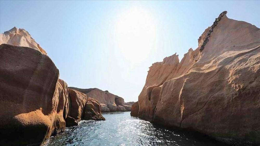 'Denizin Peribacaları' Siren Kayalıkları görenleri şaşırtıyor