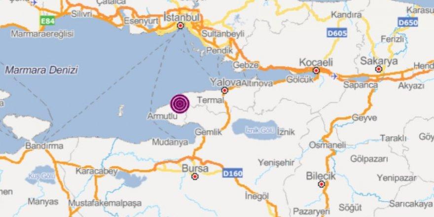Yalova'da 4.5 büyüklüğünde deprem! (İstanbul da sallandı)