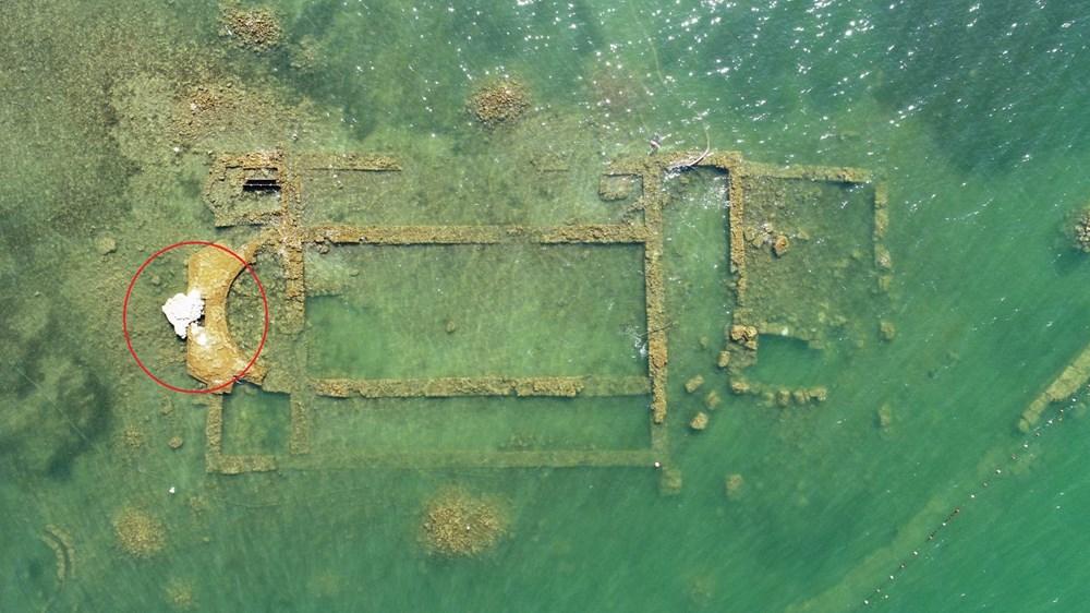 Sular çekilince 2 bin yılllık tarih gün yüzüne çıktı