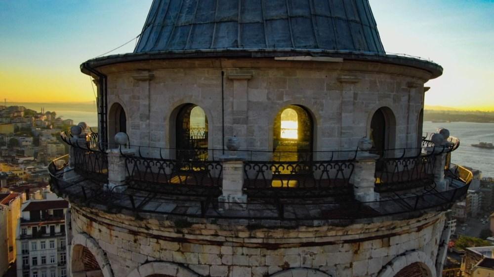 Restore edilen Galata Kulesi'nde gün doğumu